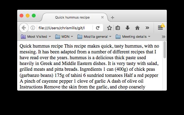 صفحه html بدون ساختاردهی