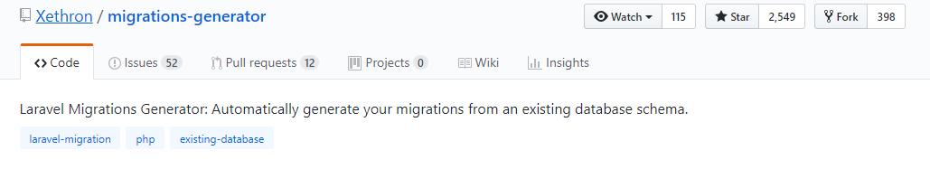 پکیج Migration Generator در لاراول